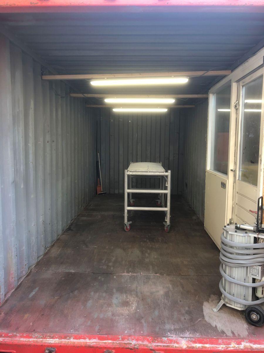 container voor zelf zandstralen