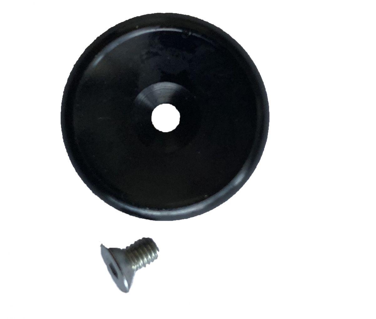 ibix zwarte knop met schroef tbv pistool
